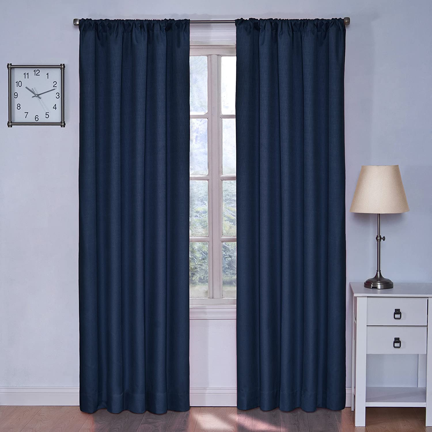 Eclipse kids kendall blackout thermal curtain panel denim for Thermal windows prices