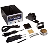 Aoyue 702A+ All Digital Dual Function Soldering and Hot Tweezers Station, 10 Soldering Tips and 2 sets of Tweezers Tips (Renewed)