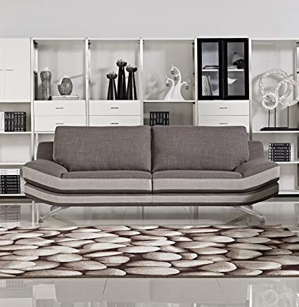 US Pride Furniture Cyna Fabric Sofa, Brown