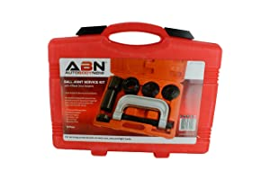 ABN Ball Joint Press 10pc Set - Ball Joint Tool, Bushing Removal Tool - Service Tool Kit with 4-Wheel Drive 4WD Adapter