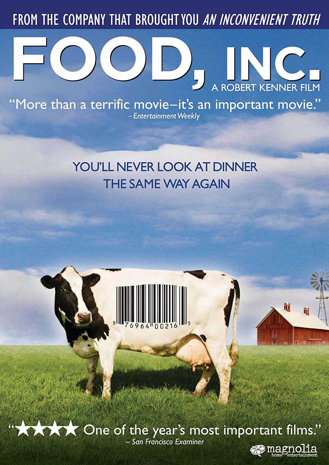 Food, Inc. is one of the most important films about food that you can watch today.