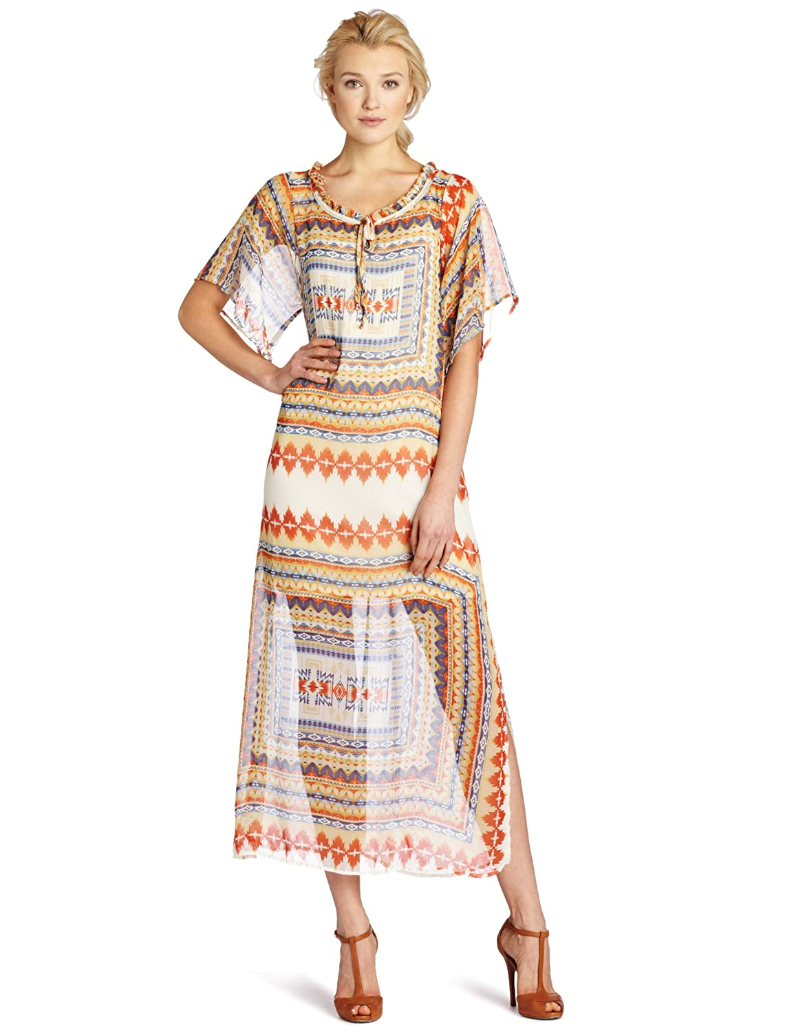 Romeo & Juliet Couture Women's Tribal Maxi Dress, Multi, Large $17.24