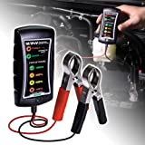 12/24V DC Automotive Battery Tester [Large Clamps] [LED Display] - Alternator/Battery Check/Diagnostic Tool for Cars Motorcycles Trucks