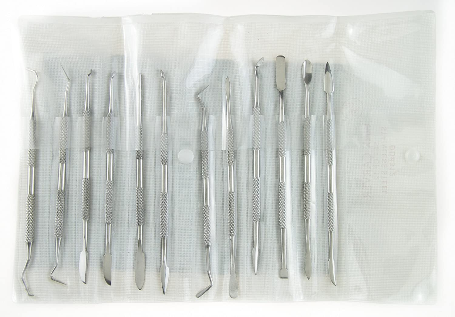 12-Piece Stainless Steel Double-Sided Wax Carvers Set