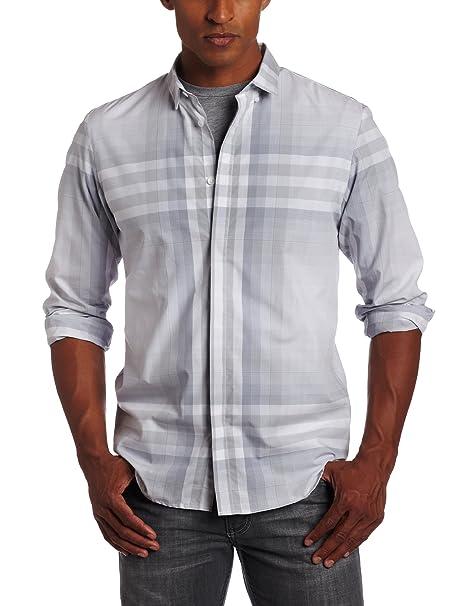 亚马逊海淘: Calvin Klein CK男式长袖衬衫 休闲款