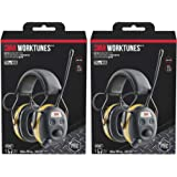 3M WorkTunes Connect Hearing Protector, Wired - 90541-80025T, 2 Pack