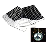 Self-Adhesive REAL Glass Craft Mini Square & Round Mirrors Mosaic Tiles NEW (Tamaño: Tiles size: 10 x 10mm)