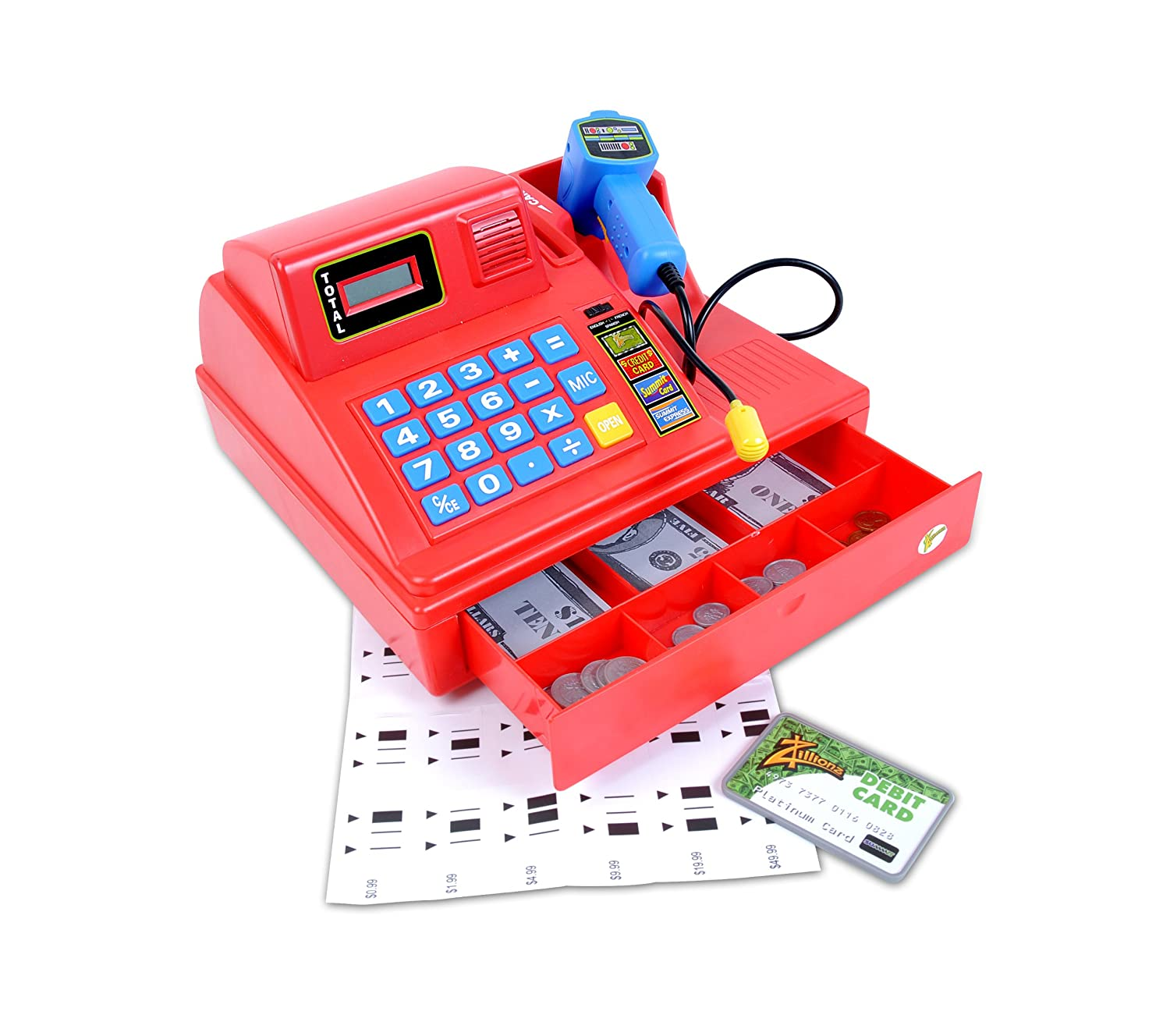 Toy Cash Register With Scanner : Kids cash register with scanner fel