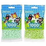 Perler Bead Bag 1000, Bundle of Mint and Sour Apple (2 Pack) (Color: Mint & Sour Apple)
