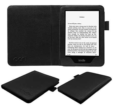 Acm Executive Leather Flip Case For Kindle 6 Tablet Front & Back Flap Cover Holder Black low price