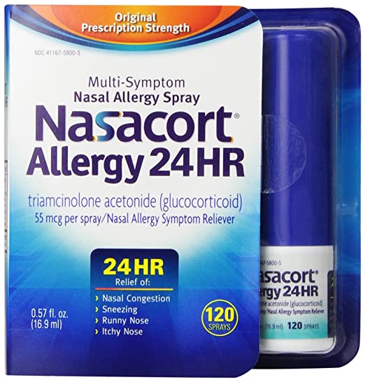 Nasacort Allergy 24 Hour 120 Sprays, 0.57 Fluid Ounce