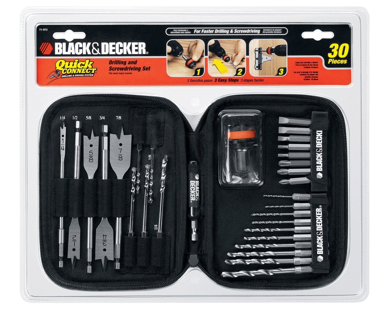 Black & Decker 71-973 Quick Connect 30-Piece Drilling and Screwdriving Set at Sears.com