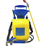 Könnig Lawn and Garden Sprayer 1.3 gallon - Portable Pump Pressure Weed Killer with Nozzle for Water, Pesticides, Chemicals - 1 FREE Pair of One-size Garden Gloves (Color: 5L, Tamaño: 1.3 Gallon)