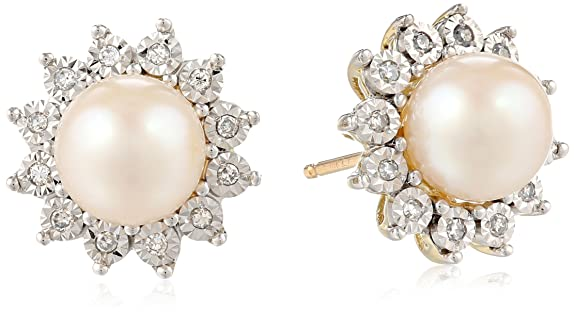 Diaura-10k-Yellow-Gold-Freshwater-Cultured-Pearl-7mm-and-Diamond-Accent-Stud-Earrings