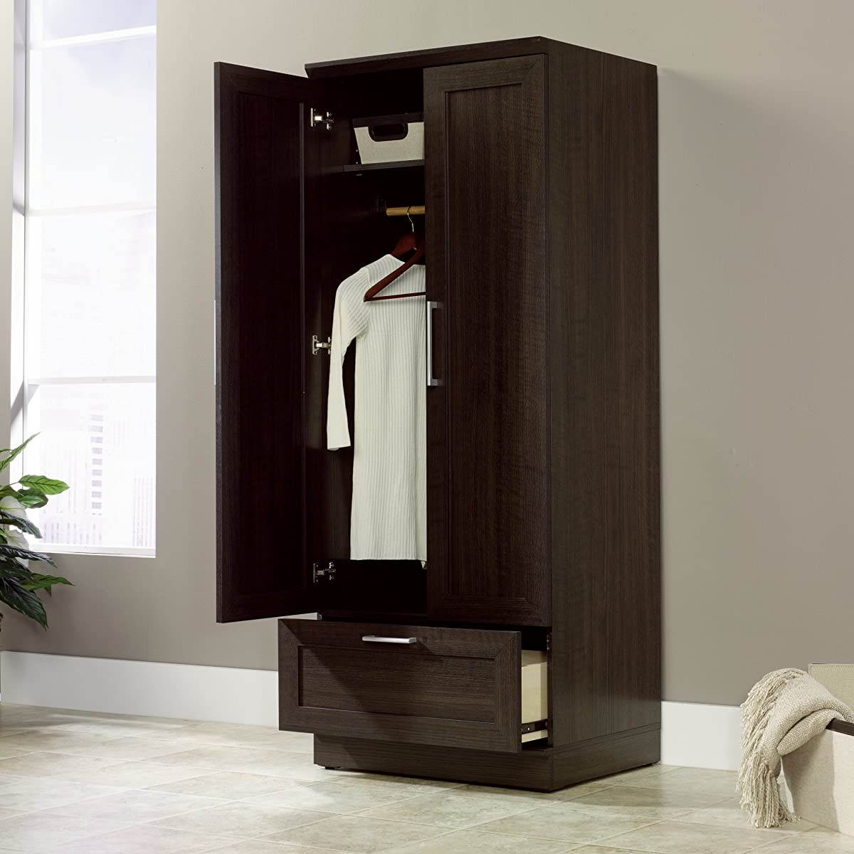 Sauder HomePlus Wardrobe, Dakota Oak