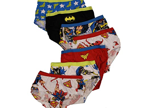 Amazon.com: Fruit Of The Loom Dc Comics Girls Briefs, 7 Pack (4 ...