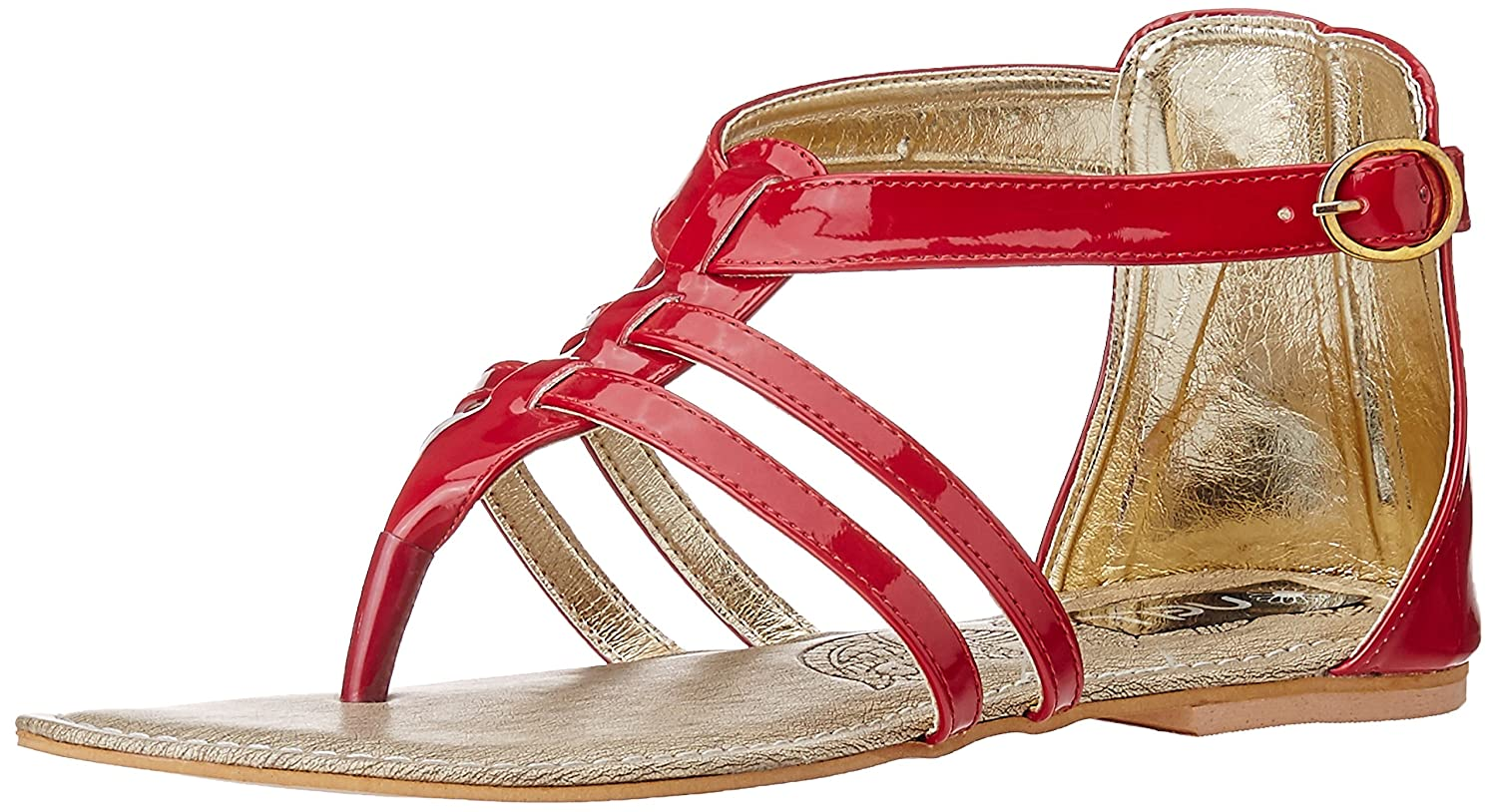 Nell Women's Red Fashion Sandals at amazon