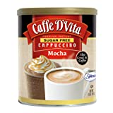 Caffe D'Vita Sugar Free Mocha Instant Cappuccino, 8.5-Ounce Canisters (Pack of 6) (Tamaño: 8.5 Oz (Case of 6))