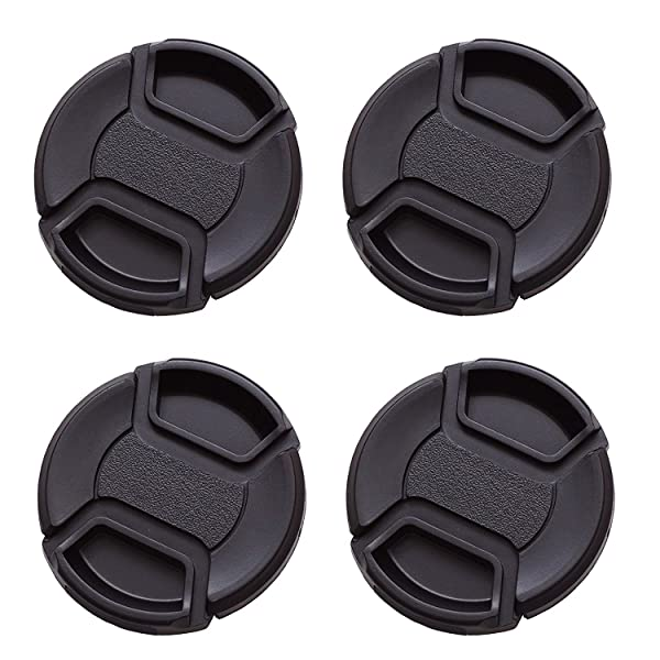 IMZ Lens Cap Bundle - 4 x 82MM Front Lens Filter Snap On Pinch Cap Protector Cover for DSLR SLR Camera Lens 82x4 (Tamaño: 82 mm)