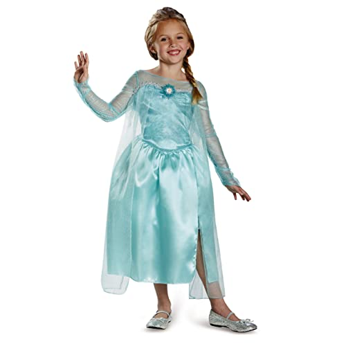 Disguise Disneys Frozen Elsa Snow Queen Gown Classic Girls Costume Medium/7-8