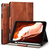 Antbox iPad Case for iPad Pro 9.7/ iPad Air/iPad Air 2 with Built-in Apple Pencil Holder Auto Sleep/Wake Function PU Leather Smart Cover (Brown) (Color: Brown)