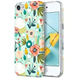 ULAK iPod Touch 7 Case, iPod Touch 6 Case, Slim Fit Anti-Scratch Flexible Soft TPU Bumper Hybrid Shockproof Protective Cover for Apple iPod Touch 5/6/7th Generation, Mint Floral (Color: Mint Floral)