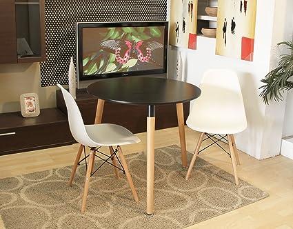Conjunto mesa redonda color negro 80 cm. + 2 silla623