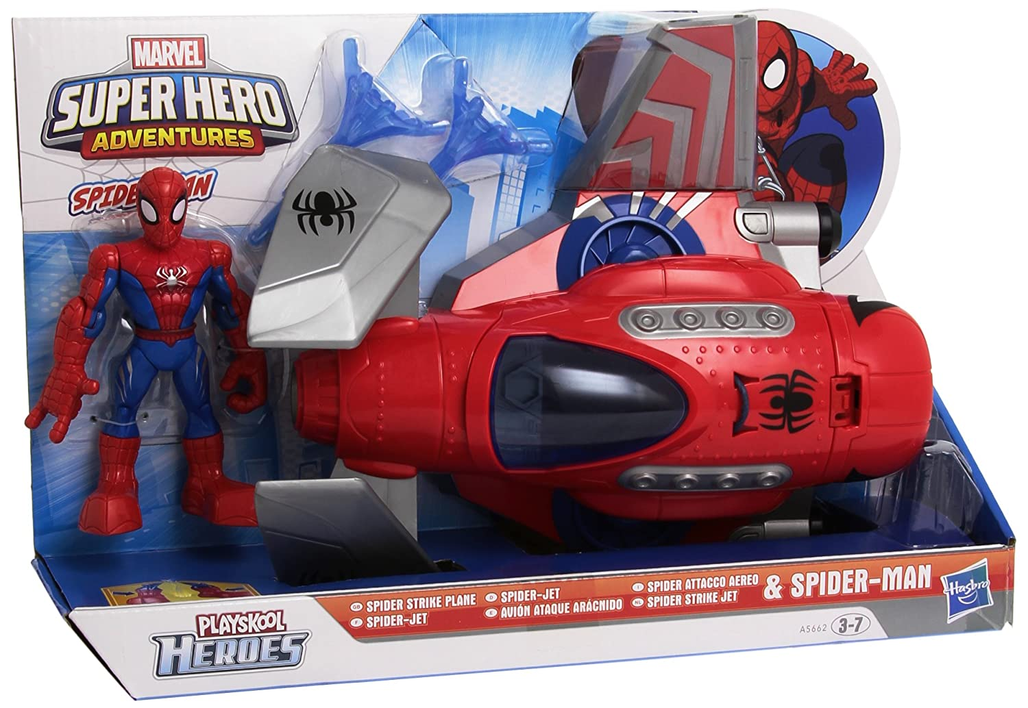 Playskool Super Hero Adventures – Spider Strike Plane + Spider Man [UK Import] jetzt kaufen