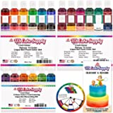 30 Color Cake Food Coloring Liqua-Gel Decorating Baking Ultimate Set - Primary, Secondary and Neon Colors - U.S. Cake Supply 0.75 fl. oz. (20ml) Bottles (Tamaño: 30-Color Ultimate Set)