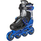 Roller Derby Cobra Boy's Adjustable Inline, Black, Small (12-1)