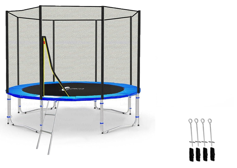 LS-T305-PA10 (BA) LifeStyle ProAktiv Garten- Trampolin 305 cm – 10ft Extra Starkes Sicherheitsnetz – 180kg Traglast – TÜV/GS/CE online kaufen