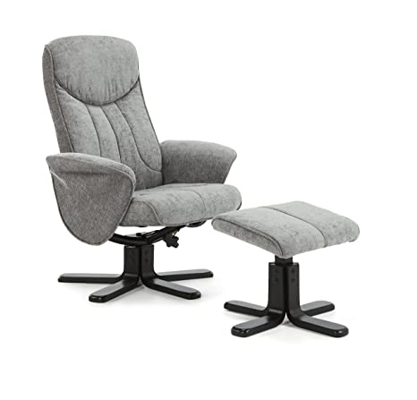 Stavern Four Point Massage Upholstered Swivel and Recliner Chair With Black Legs