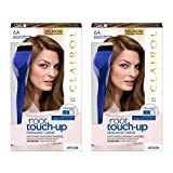 Clairol Nice 'N Easy Permanent Hair Color Root Touch-Up Kit, 6A Matches Light Ash Brown Shades (Pack of 2) (Packaging May Vary) (Color: 6A Light Ash Brown, Tamaño: Pack of 2)