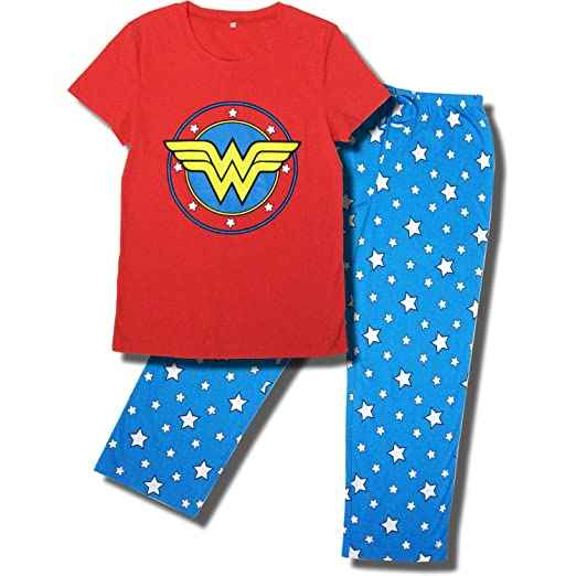 Wonder Woman Superhero Pajama Set for Women, Celebrate Girl Power