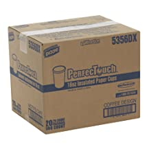 PerfecTouch 5356DX WiseSize Insulated Paper Cup, Coffee Dreams Design, 16 oz Capacity (20 Packs of 25)