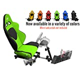 Openwheeler GEN2 Racing Wheel Stand Cockpit Green on Black | Fits All Logitech G29 | G920 | All Thrustmaster | All Fanatec Wheels (Color: Green)