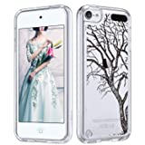 ULAK iPod Touch 7 Case, iPod 6 Case, iPod Touch 5 Clear Case, Slim Anti-Scratch Flexible Soft TPU Bumper Hybrid Shockproof Protective Case for Apple iPod Touch 5/6th/7th Generation,DrawnTree (Color: DrawnTree)