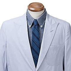 Todd Snyder Linen Silk Stripe Tie 5776180004181: Blue