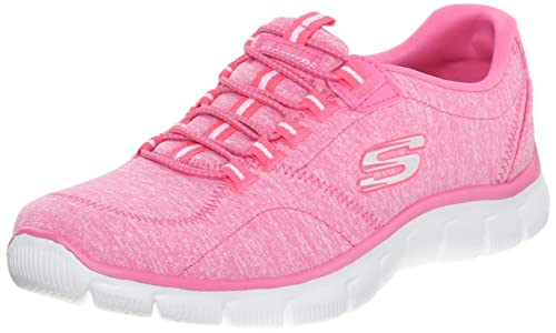 Skechers Sport Women's Heart To Heart Fashion Sneaker, Pink, 7 M US
