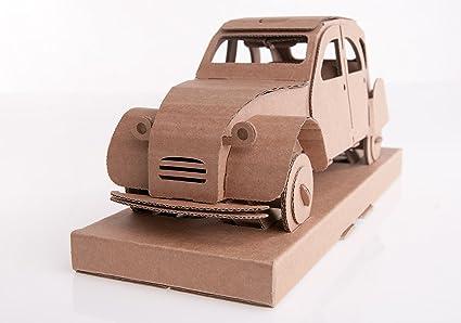 Deudeuche 2 CV en carton brun montée