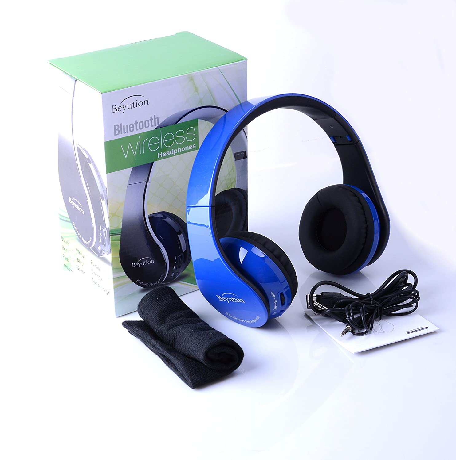 все цены на New Royalblue color Beyution513 Hi-Fi Over-ear Stereo Bluetooth Headphones--Built in Mic-phone talk with phone or listen music clearly, built Noise cancellation technology, with Retail package! онлайн