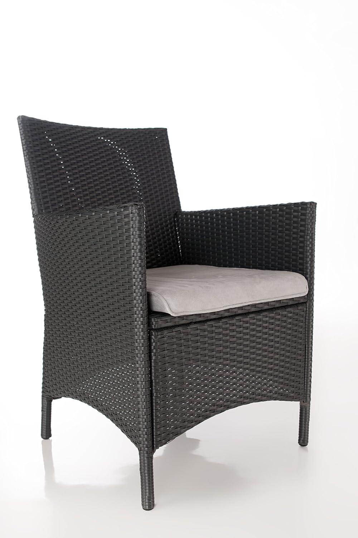 Geflecht Stuhl Ancona , PE-Geflecht, Alu-Rahmen, Farbe anthrazit, LILIMO ® günstig