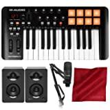M-Audio Oxygen 25 MK IV USB Pad/MIDI Keyboard Controller with Marantz Professional Pod Pack 1 USB Microphone Kit and Deluxe Bundle