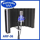 Post Audio ARF-36 Foldable Reflection Filter and Portable Vocal Booth with Carrying Bag. Studio Sound Anywhere, Anytime. (Color: Silver/Black)