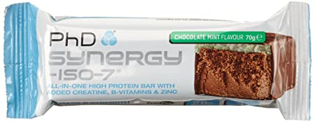 PHD Synergy ISO-7 Bar - Chocolate Mint (12 Riegel), 1er Pack (1 x 840 g)