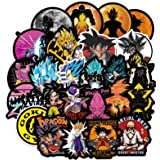 Dragon Ball Z Stickers 200pcs Anime Vinyl Sticker for Nintendo Switch Laptop Water Bottle Bike Car Motorcycle Bumper Luggage Skateboard Graffiti Cute Animal Monsters Decal Best Gift for Kid Children (Color: Dragon)