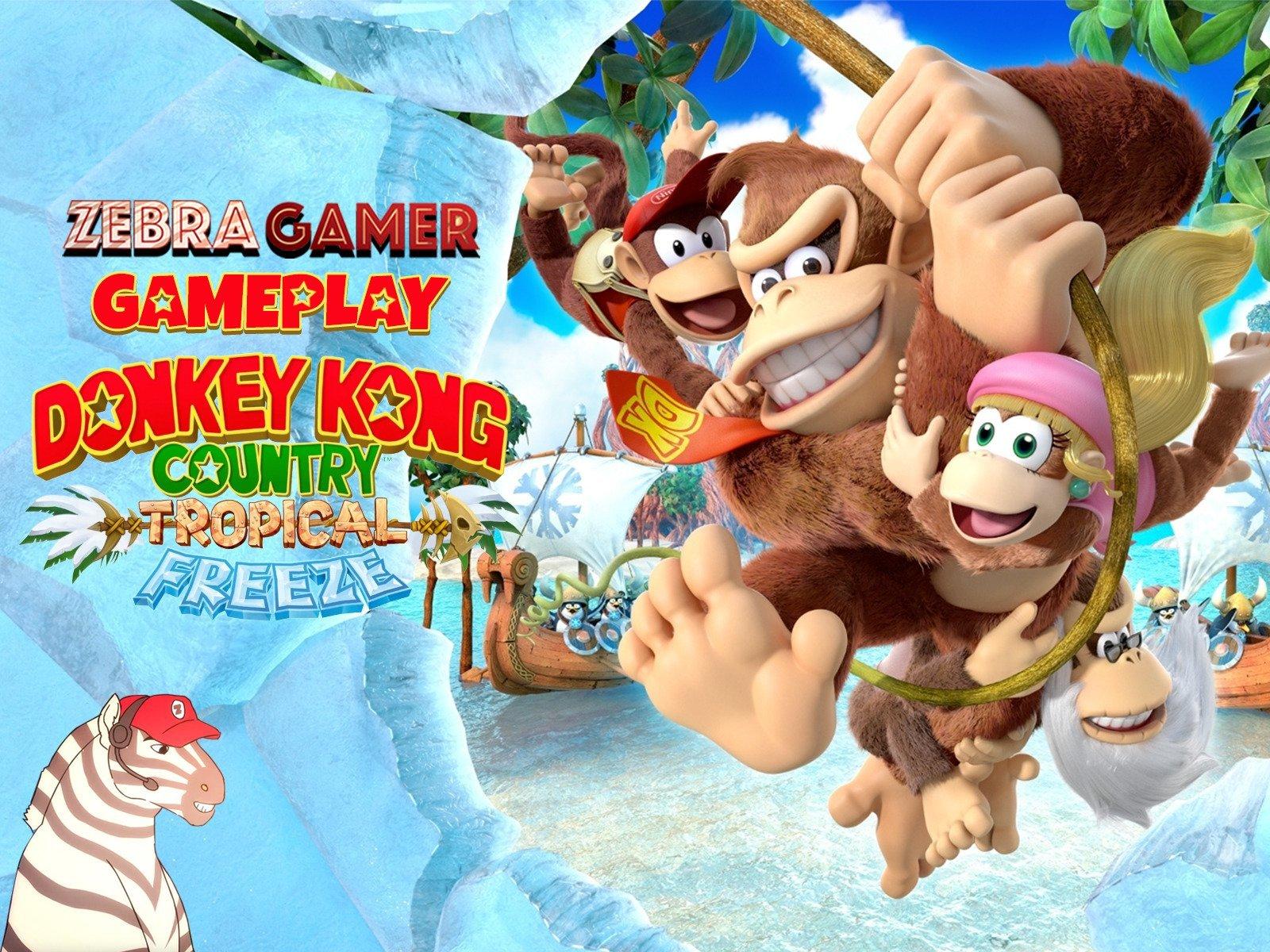 Clip: Donkey Kong Country Tropical Freeze Gameplay - Zebra Gamer - Season 1