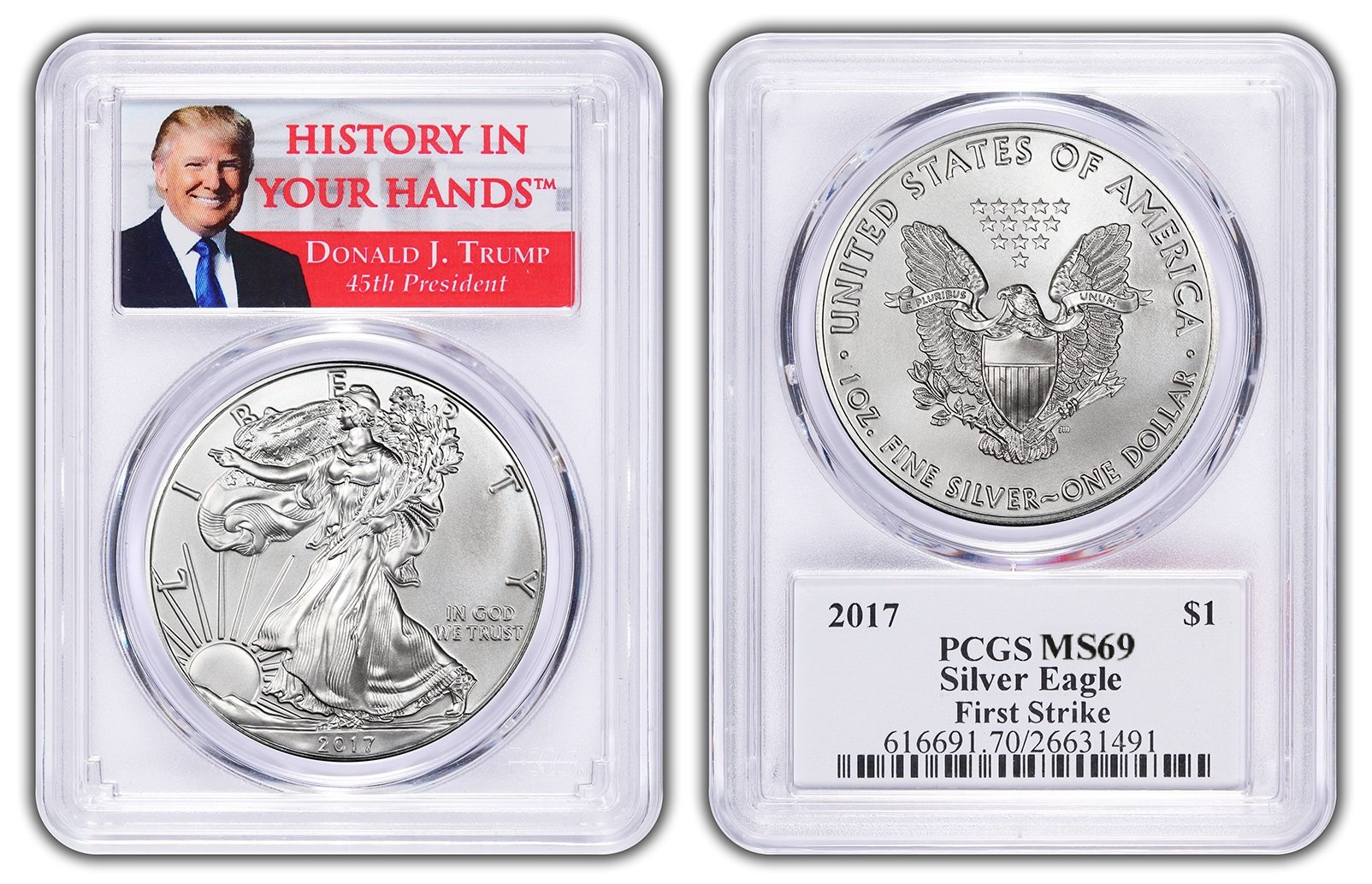 Silver Eagle Donald Trump