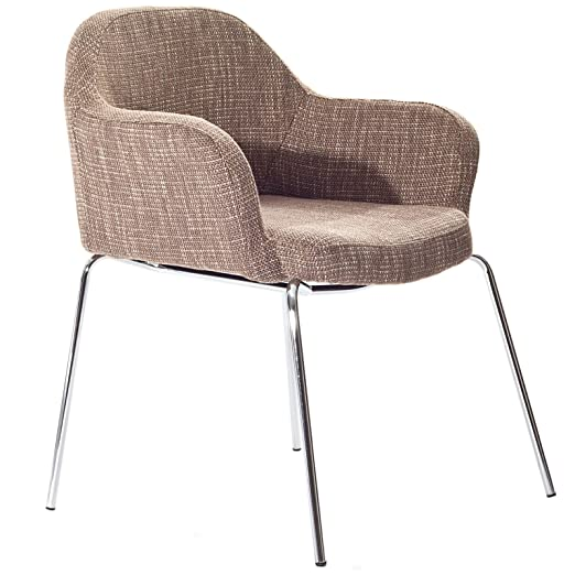 LexMod Saarinen Style Armchair in Oatmeal Fabric