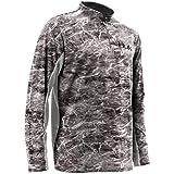Huk Men's Elements Icon 1/4 Zip Long Sleeve Shirt,Elements Manta,Medium (Color: Elements Manta, Tamaño: Medium)